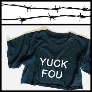 "CROPPED ""YUCK FOU"" T-SHIRT"